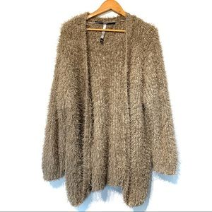Kensie teddy faux fur plush jacket cardigan cozy